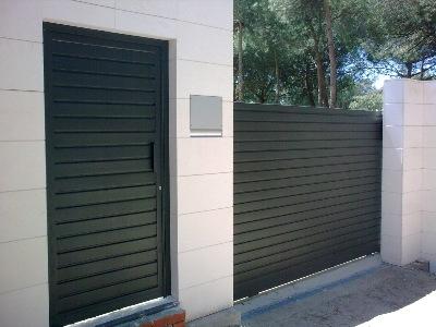 Puertas cancelas precios materiales de construcci n para for Bricomania puerta corredera
