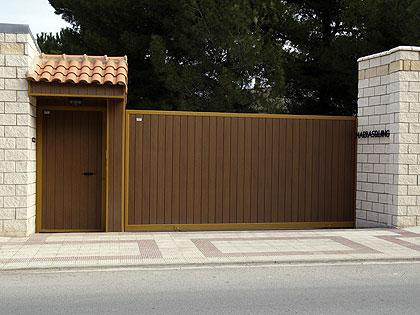 Puertas correderas garajes y fincas madrid cancelas - Portal de corredera ...