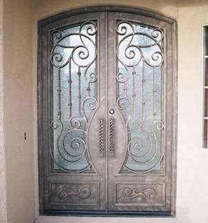 Puertas de hierro forja